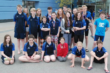 The swimmers were in fine form with many pbs and for Leighton buzzard swimming pool
