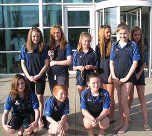 Thame swimmers at the second day of the Counties