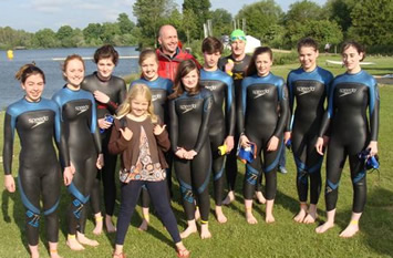 Open water swimming June 2013